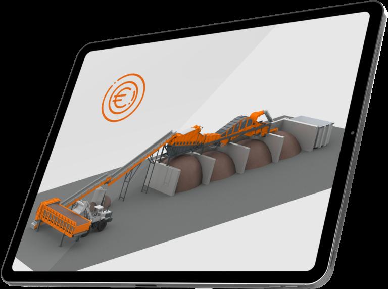 Aeroselector-Kostenrechner in Tablet